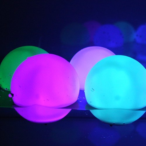 Set of 12 Mood Light Garden Deco Balls (Light Up Orbs) With Two 5-Packs of Spare Replacement Batteries by MicroTronixx. review